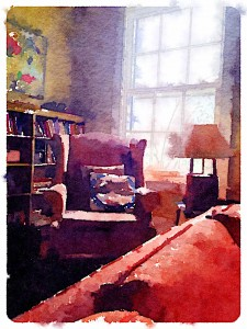 Waterlogue 1.1.2 (1.1.2003) Preset Style = Vibrant Format = Medium Format Margin = Small Format Border = Sm. Rounded Drawing = #2 Pencil Drawing Weight = Medium Drawing Detail = Medium Paint = Natural Paint Lightness = Normal Paint Intensity = More Water = Tap Water Water Edges = Medium Water Bleed = Average Brush = Natural Detail Brush Focus = Everything Brush Spacing = Narrow Paper = Watercolor Paper Texture = Medium Paper Shading = Light