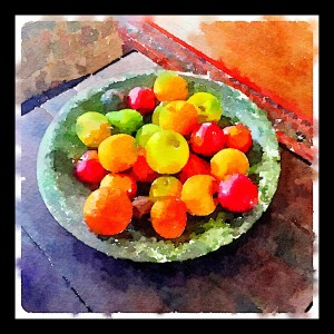 "Waterlogue 1.2.1 (66) Preset Style = Vibrant Format = 6"" (Medium) Format Margin = Small Format Border = Sm. Rounded Drawing = #2 Pencil Drawing Weight = Medium Drawing Detail = Medium Paint = Natural Paint Lightness = Auto Paint Intensity = More Water = Tap Water Water Edges = Medium Water Bleed = Average Brush = Natural Detail Brush Focus = Everything Brush Spacing = Narrow Paper = Watercolor Paper Texture = Medium Paper Shading = Light Options Faces = Enhance Faces"